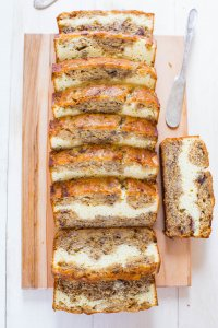 Rich And Creamy Cream Cheese Filled Banana Bread